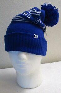 NWT Adidas Youth Bantam Graphic Ballie Pom Beanie Hat OSFA Royal MSRP$20