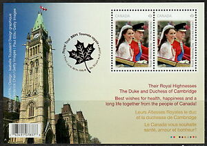 Canada-2477b-Royal-Wedding-Day-Tour-Overprint-Souvenir-Sheet-MNH