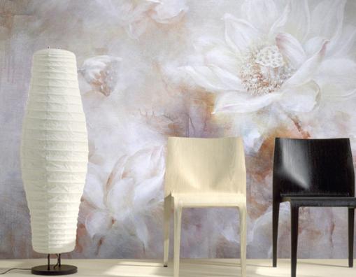 3D Weiß Lotus Art 854 Wall Paper Murals Wall Print Wall Wallpaper Mural AU Kyra