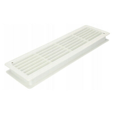White Bathroom Door Air Vent Grille 460mm x 135mm Two ...