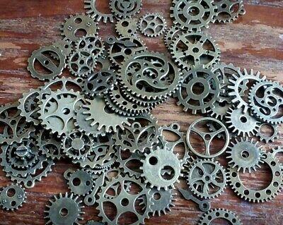 Assorted Gears Steampunk Clock Cog Rustic Copper Mix 10mm-26mm 70pc Bulk Lot