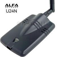 Alfa U24n Wireless 802.11n Usb Wi-fi Adapter 350mw For Mac Yosemite & Windows 8