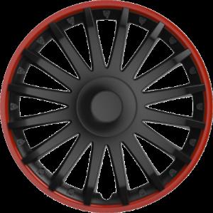 "VW UP 12 15/"" 15 INCH CAR VAN WHEEL TRIMS HUB CAPS RED /& BLACK"