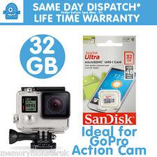 32GB Sandisk Ultr MicroSD UHS-1 48MBs Memory Card for GoPro Hero 3 Black Hero 4