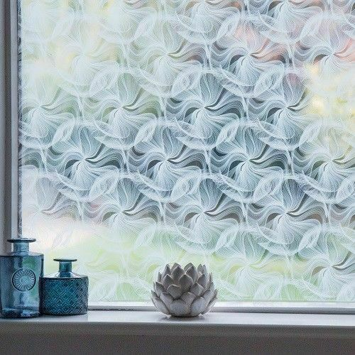 WHITE FROSTED PRIVACY GLASS EFFECT STICKY BACK PLASTIC VINYL FILM SELF ADHESIVE
