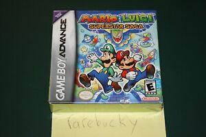 Mario Luigi Superstar Saga Game Boy Advance New Sealed First
