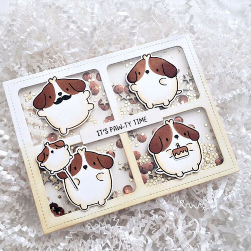 Window Background Frames Metal Cutting Dies Scrapbooking Embossing Stencil Craft
