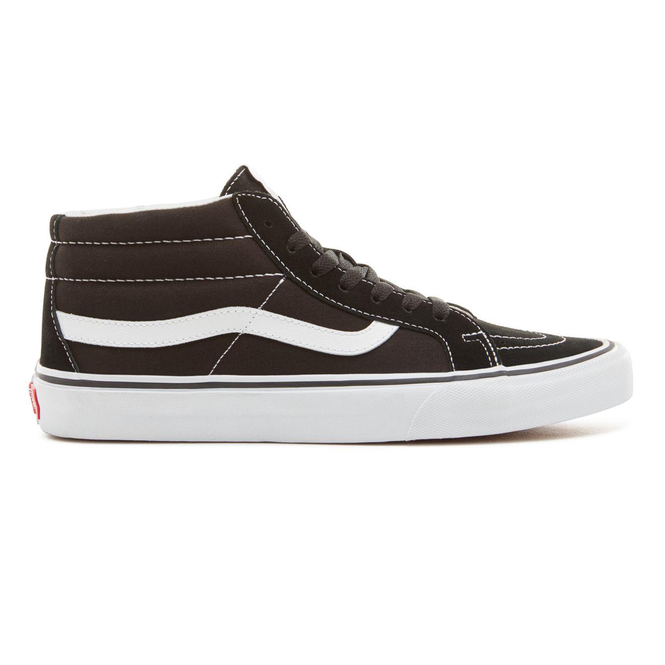 Vans zapatos Sk8-mid hombre Sk8-mid zapatos reissue (retro sport) negro/true Blanco  skate zapatillas c1291b
