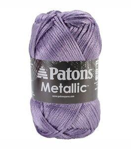 PATONS METALLIC YARN- GORGEOUS SHEEN! NEW! 11 GREAT COLORS ...