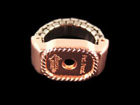 Western Bright Copper Concho Ring/scarf Slide Adapter Adjustable Band