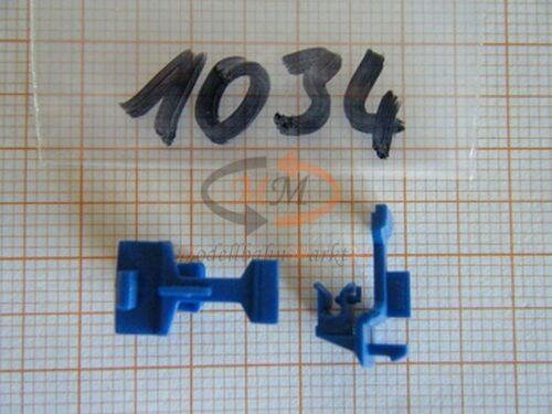 10x ALBEDO Ersatzteil Ladegut Kupplung für Tandem Hängerzug blau 1:87-1034