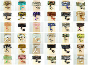 Natural-6mm-Gemstone-Buddhist-108-Beads-Prayer-Mala-Stretchy-Bracelet-Necklace