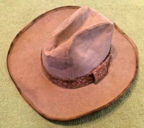 Antique Men's Cowboy Hat 7-7 1/8 Mexican Style Dec