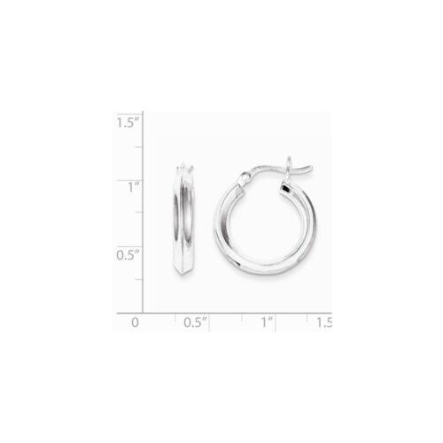Argent Sterling .925 20 mm couteau Bord Boucles D/'oreilles Créoles PDSF $36