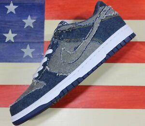 Nike-Dunk-Low-Premium-CL-Denim-Blue-Shoe-Vtg-2006-304714-441-Levis-Men-039-s-10-5