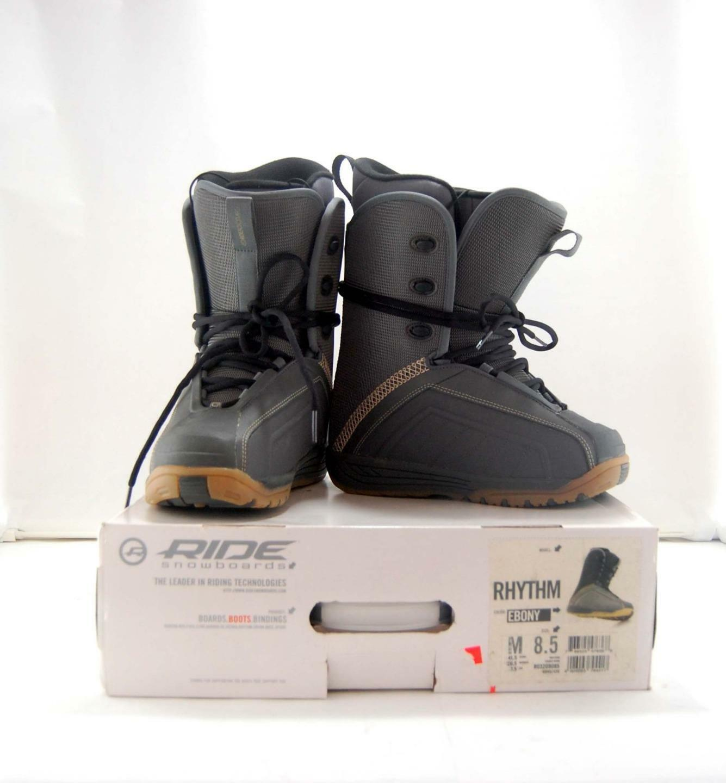 New Mens Ride Ebony Rhythm Snowboard Boots Size 8.5 Laces R03209085