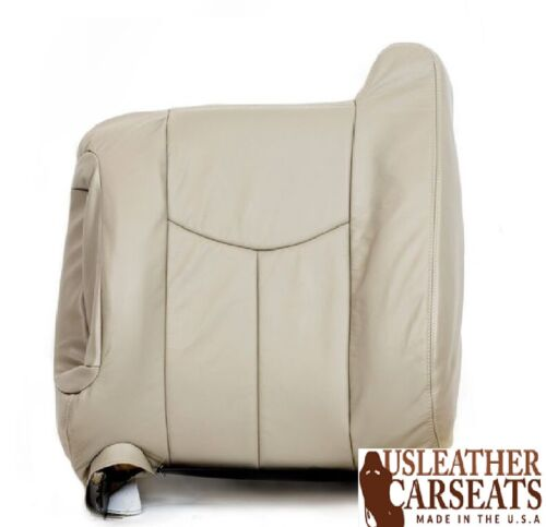 2003-2007 Cadillac Escalade Driver Side Lean Back Leather Seat Cover Shale