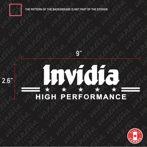 2X INVIDIA HIGH PERFORMANCE sticker vinyl decal