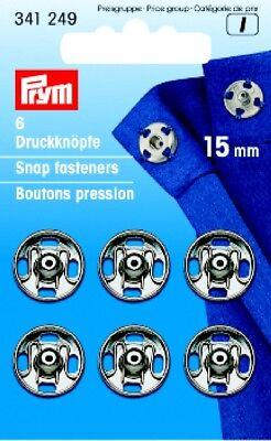 6 Prym Druckknöpfe zum Annähen 15 mm transparent Kunststoff 347106