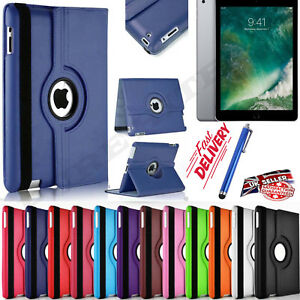 Leather-360-Degree-Rotating-Smart-Stand-Case-Cover-For-All-Apple-IPAD-Models