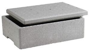 neopor styroporbox k hlbox mit deckel ca 10 liter 40x30x14cm ebay. Black Bedroom Furniture Sets. Home Design Ideas