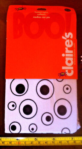 White Eyes Tights Halloween Child 3-6yrs Claire/'s Claires Accessories £5 RRP