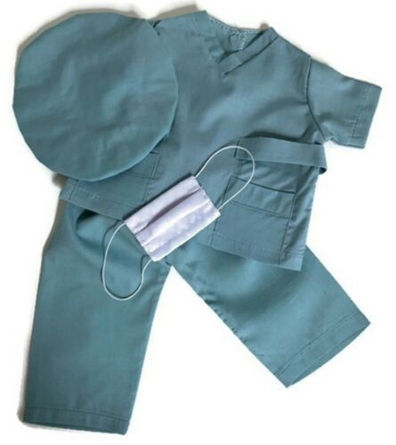4 pc Hospital Scrub Set for 18 inch American Girl Doll Clothes
