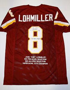 Chip-Lohmiller-Autographed-Maroon-Pro-Style-Stat-Jersey-w-SB-Champs-JSA-W-Auth