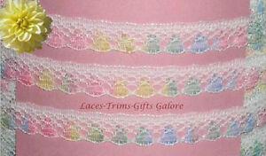 "WHOLESALE Multi Pastel Lace Trim 80 Yds 1/2"" M51LV US Made Added Trims ShipFree"