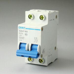 AC 230//400V 25A 6000A 1P 1 Pole Miniature Circuit Breaker DIN Rail DZ47-60 C25