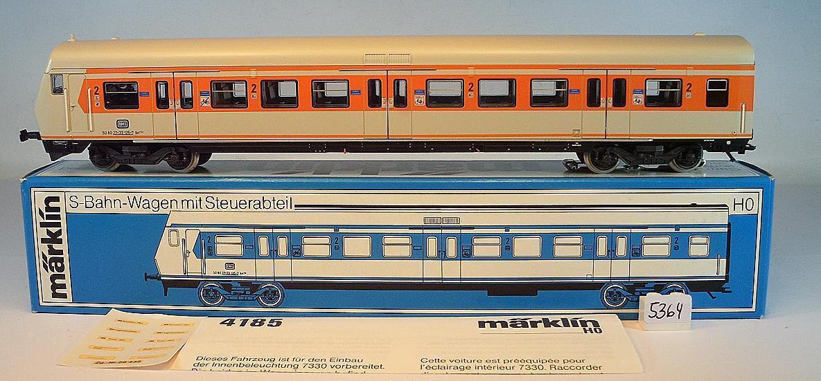 Märklin h0 4185 S-bahn car with tax Compartment 2. Class DB KKK NEM & Original Box 1