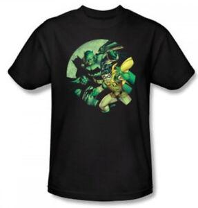 44fa0af3 Classic DC Comics Batman & Robin Bubble Gum Black Adult T-shirt Tee ...