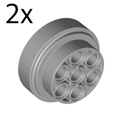 x 15mm Technic Pieces Lego 4 New Light Bluish Gray Wheel 31mm D