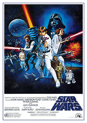 Star Wars: A New Hope (1977) - A2 A3 A4 POSTER ***RETOUCHED AND RESTORED***