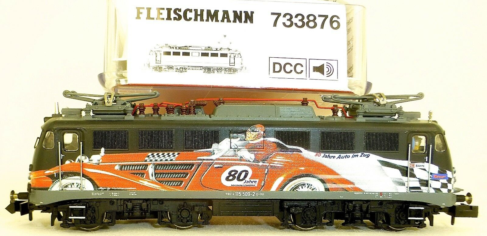 E 115 Ellok 80 Jahre Autozug DIGITAL SOUND Fleischmann 733876 N 1 160 OVP å