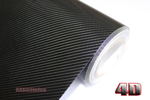 DIY Adhesive Black 4D Texture Carbon Fiber Vinyl Tape Wrap Sticker Film Decal AB