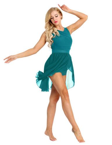 Women/'s Adult Lyrical Ballet Leotard Dance Stretchy Gymnastics Skate Dress Skirt