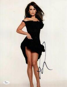 Lea Michele Signed Autographed 11x14 Photo Glee Sexy Black Dress