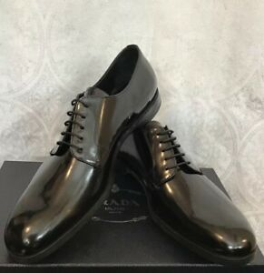 Prada Men's Shoe Black Patent Leather