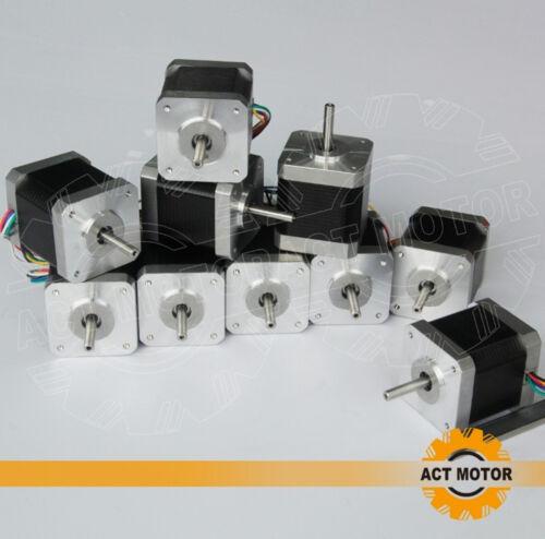 ACT moteur GmbH 3pcs Nema 17 Étape moteur 17hm5424 2.4 a 48 mm 0,9 ° 42ncm 4 Affaires