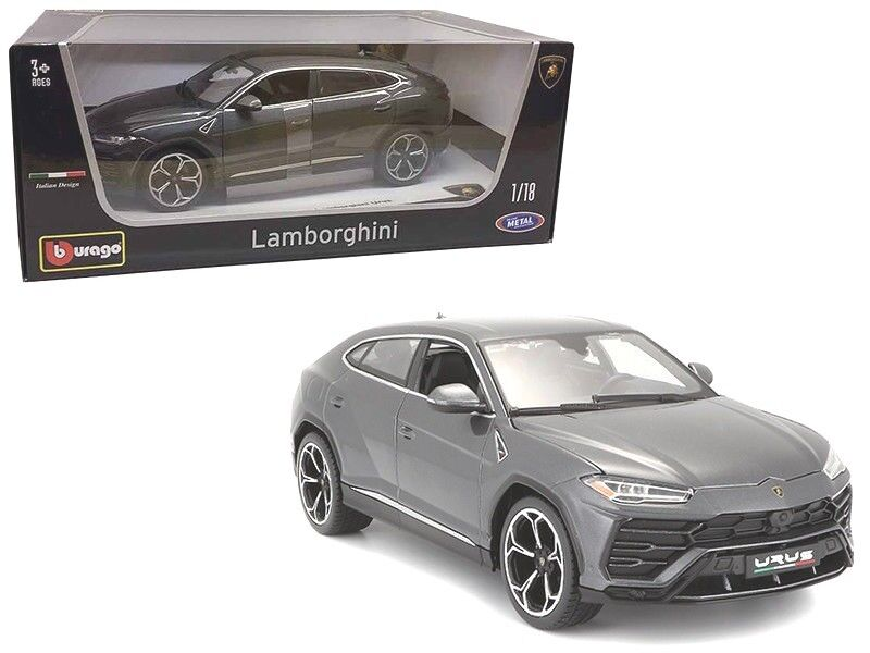 Lamborghini Urus Grey 1 18 Diecast Model Car Car Car by Bburago 562e11