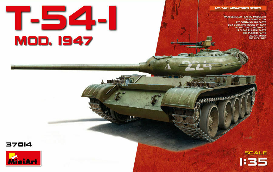 T-54-1 Mod.1947 Tank Plastic Kit 1 35 Model MINIART