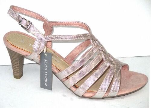 Rose Metallic Gr-36-41 Marco Tozzi Damen Sandalette ++NEU+++