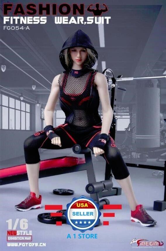 1 6 Female Fitness Gym Wear Set For 12  PHICEN Hot Toys Female Figure Doll