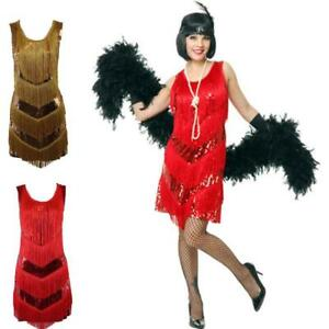 1fb82e61fd Flapper Dress Sequin 1920s Fancy Gatsby Costume Fringed Dresses ...