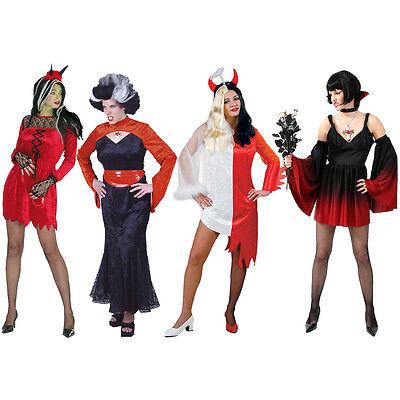 Teufel Damen Kostüm Fries Vampir Fasching Karnevalskostüm 36 38 40 42 44 46 neu