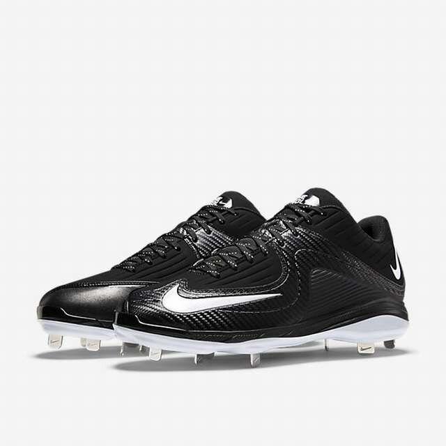buy online 085c8 e4c89 Nike Air MVP Pro 2 Metal Baseball Cale Gris et Blanc 684685-011 Hommes  Taille 16 Articles de sport collectif