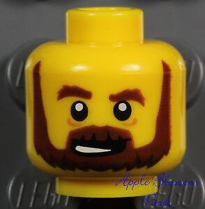 LEGO NEW MINIFIGURE HEAD WITH ORANGE BEARD CASTLE KNIGHT PIECE