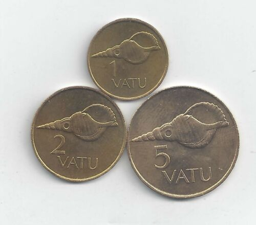 3 DIFFERENT COINS from VANUATU 3 DENOMINATIONS