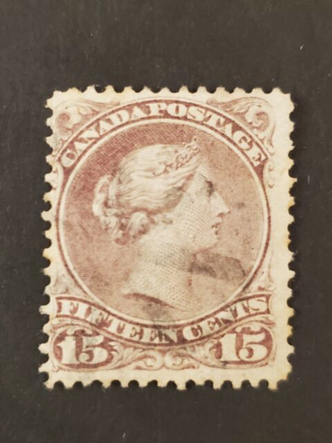 Canada #29v Bothwell paper faint cork cancel on 15¢ Large Queen